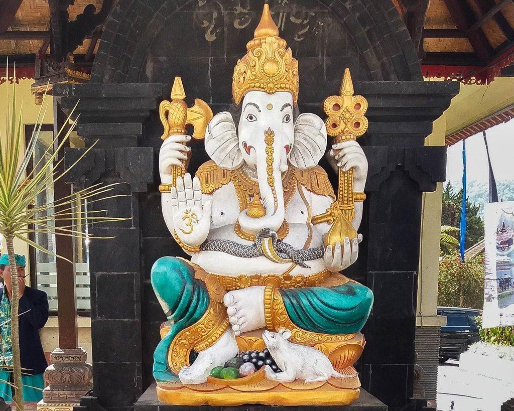 Statue of the goddess Ganesha in the Temple Ulun Danu Beratan - Bali, Indonesia