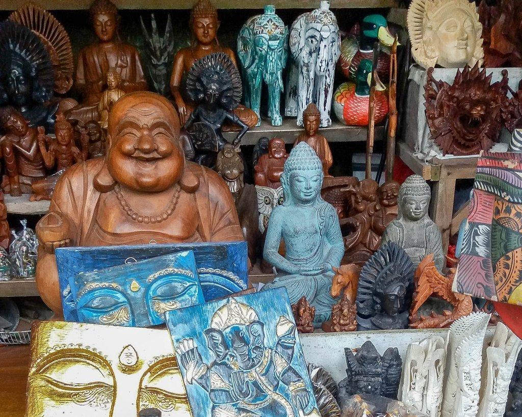 Craft market at Goa Gajah Temple - Bali, Indonesia