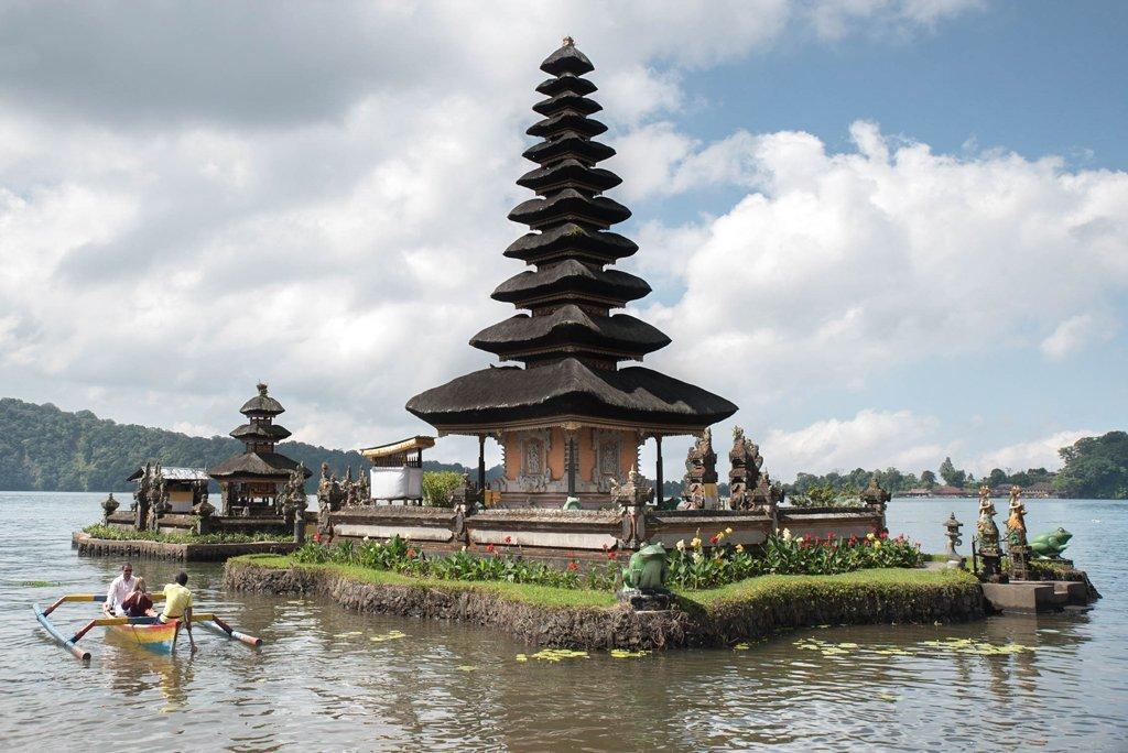 A part of the Ulun Danu Beratan temple on Lake Beratan - Bali, Indonesia
