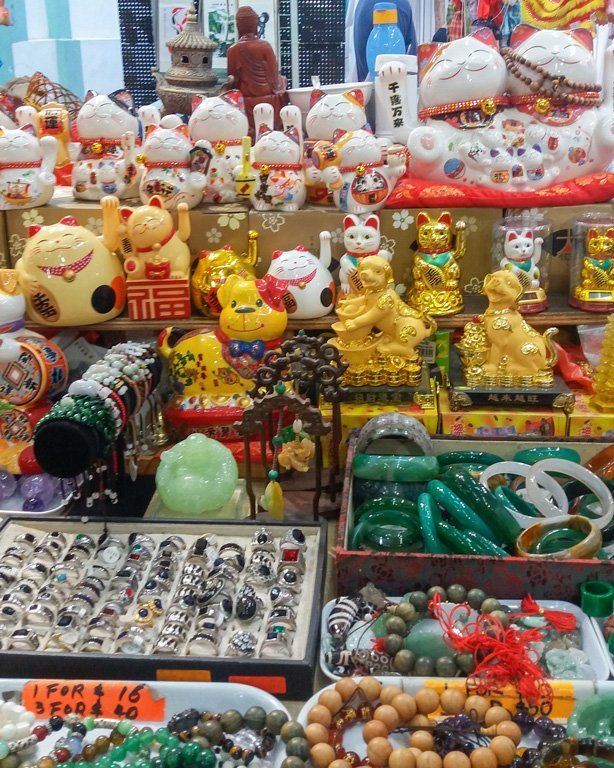 Shop with decorative objects typical of China in Chinatown, Singapore