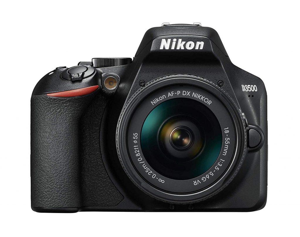 Nikon D3500 reflex camera with lens