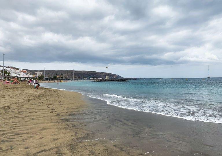 Vistas por la mañana a la Playa de Fañabé, Tenerife