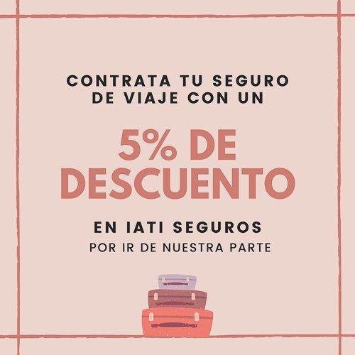 Seguro de viaje con 5% de descuento