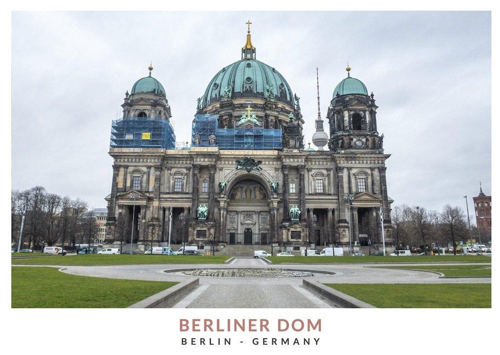 Postal con una imagen de la catedral de Berlin, Berliner Dom