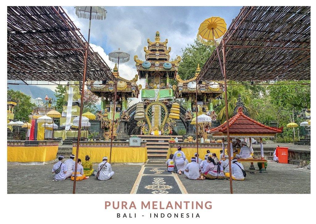 Interior templo principal Pura Melanting, Bali - Indonesia
