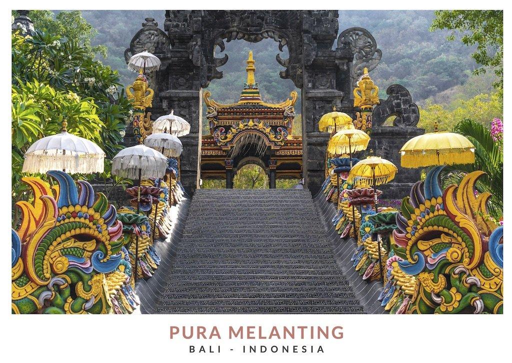 Escalera principal templo Pura Melanting, Bali - Indonesia