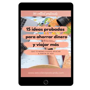 Mockup tablet guía 15 ideas probadas para ahorrar dinero y viajar más