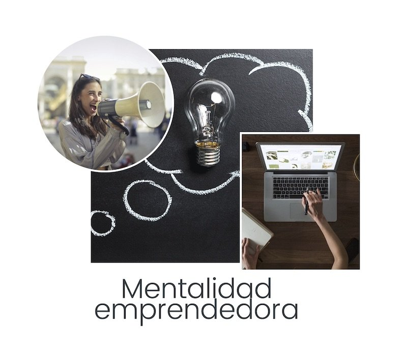 Collage mentalidad emprendedora We Collect Postcards