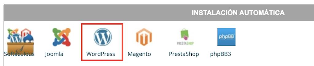 Instalación WordPress Siteground