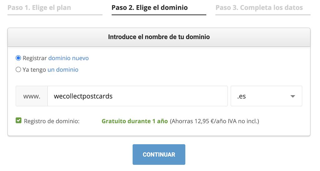 Registrar dominio Siteground