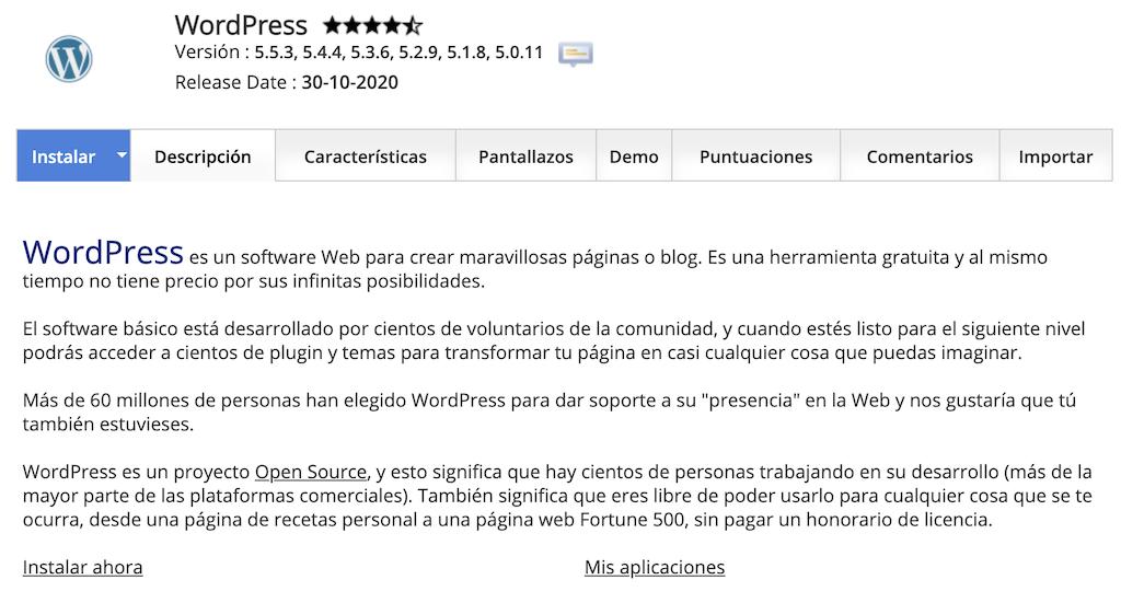Instalar WordPress Siteground