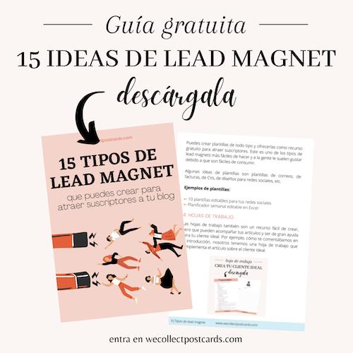 Guía gratuita 15 ideas de lead magnet