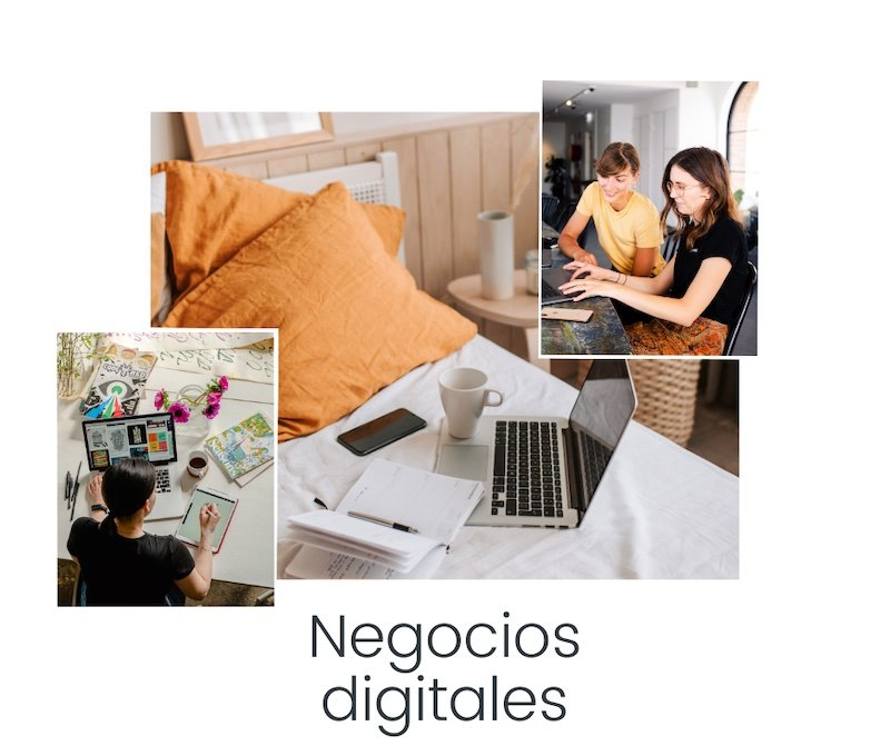Collage Negocios Digitales, blog We Collect Postcards