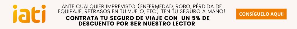Banner descuento seguro de viaje Iati Seguros
