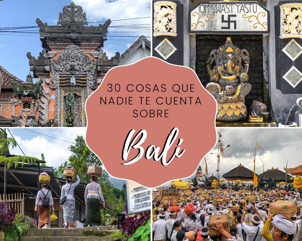 30 cosas que nadie te cuenta sobre Bali