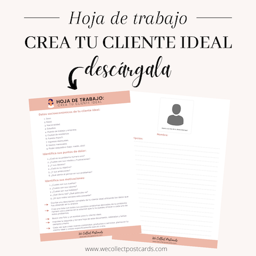 Preview hoja de trabajo Crea tu cliente ideal