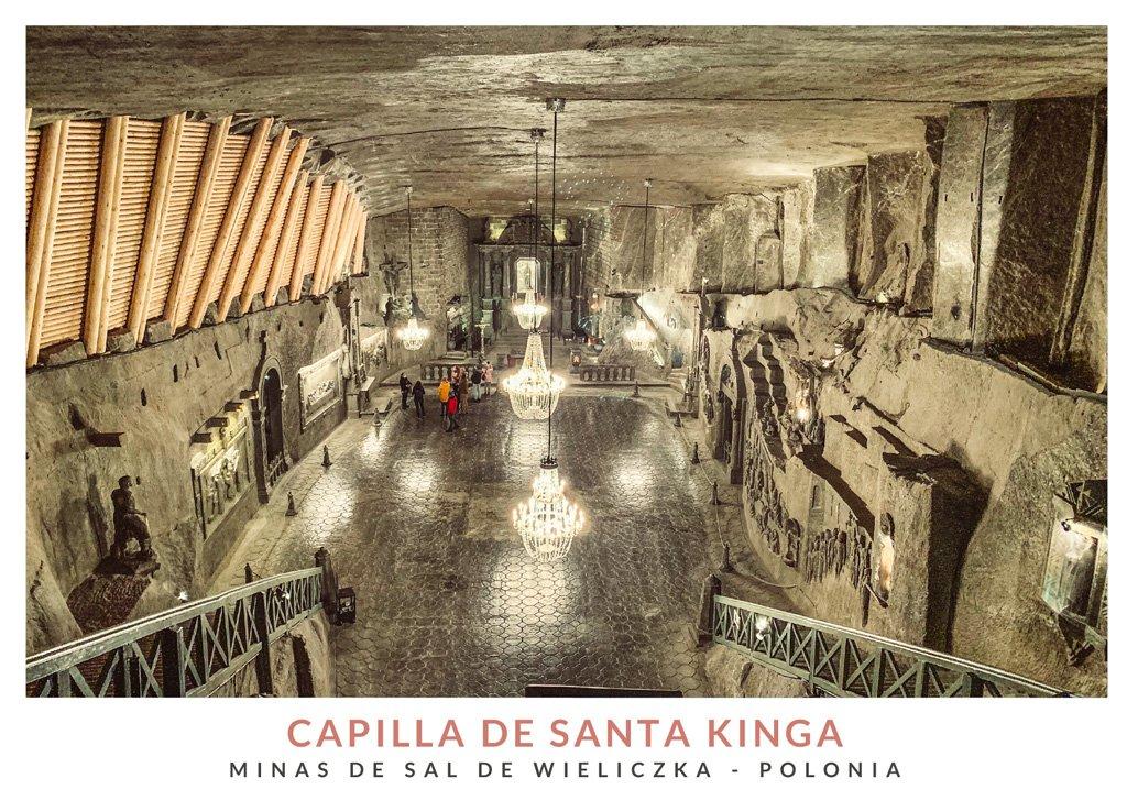 Capilla Santa Kinga en las profundidades de las Minas de Sal de Wieliczka, Polonia