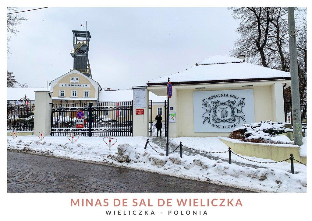 Entrada principal al recinto de las Minas de Sal de Wieliczka, Polonia