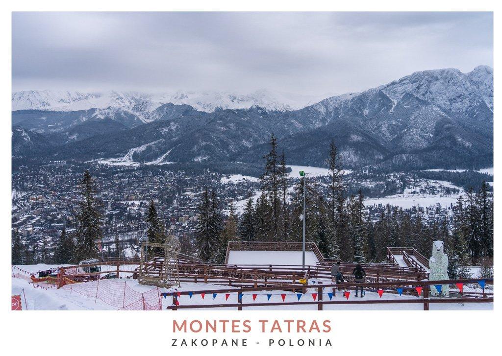 Vista de los Montes Tatras desde Zakopane, sur de Polonia