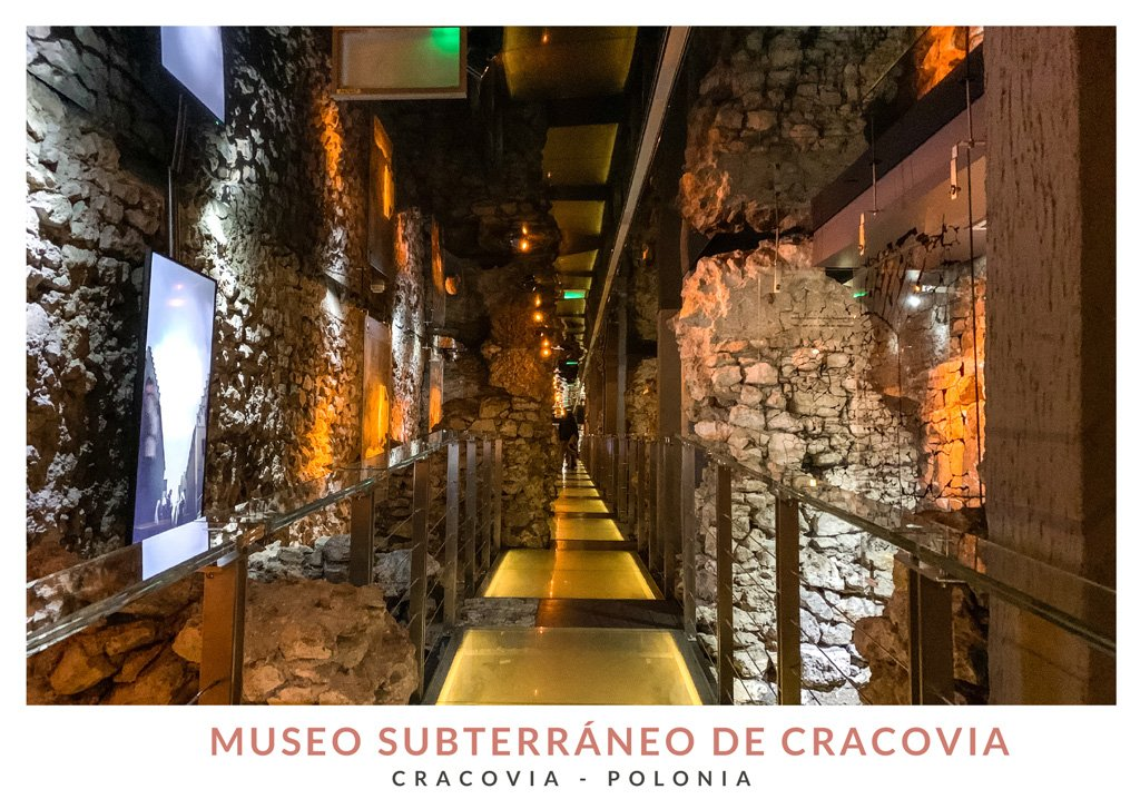 Interior del Museo Subterráneo situado debajo de la Plaza del Mercado de Cracovia