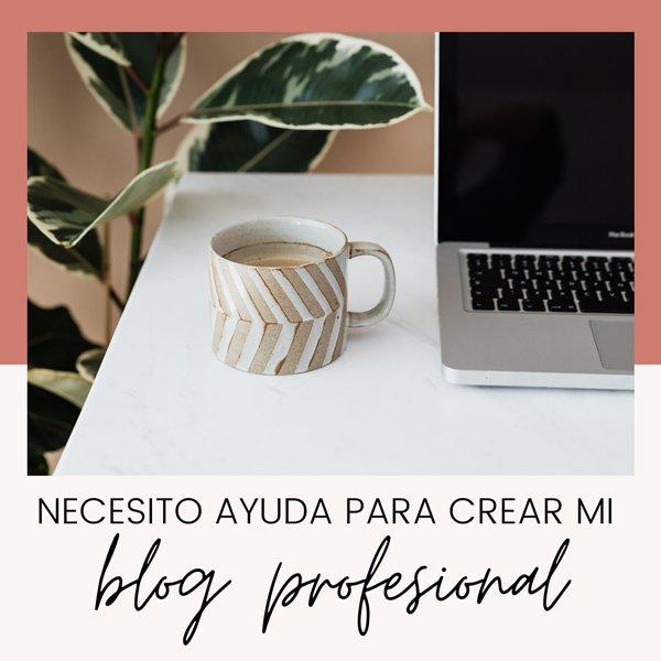 Necesito ayuda para crear mi blog profesional