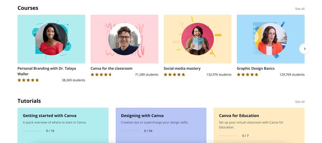 La escuela de diseño, una razón para usar Canva