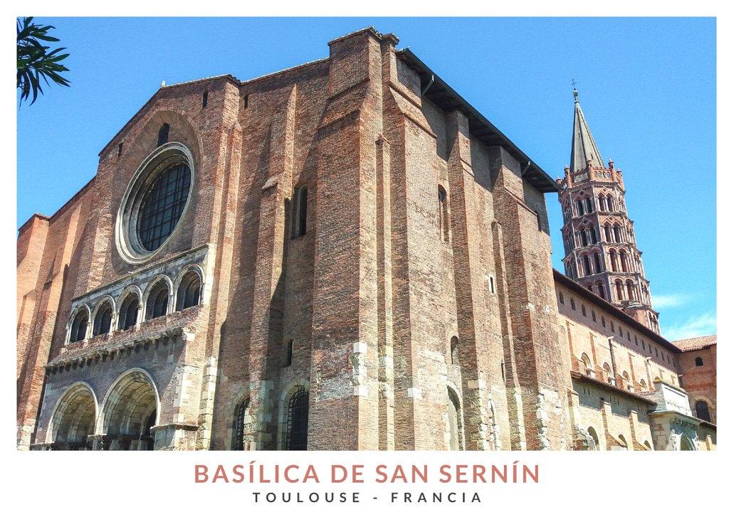 Basílica románica San Sernín, uno de los lugares imprescindibles que ver en Toulouse