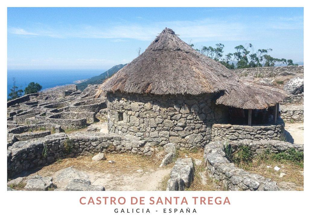 Yacimiento arqueológico celta en el Castro de Santa Trega, Galicia