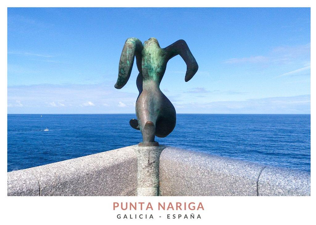 El Atlante, una escultura en el Faro de Punta Nariga, Galicia