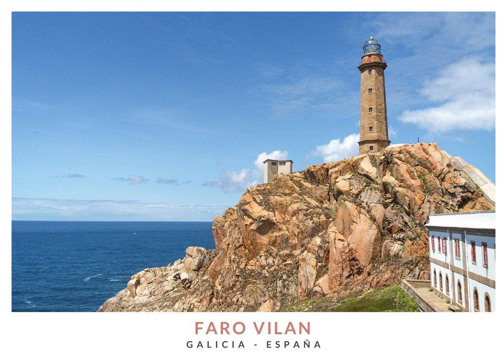 Faro en el Cabo Vilan, localidad de Camariñas, Galicia