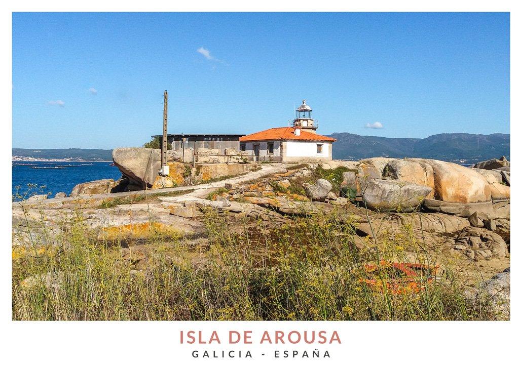 Faro en la Isla de Arousa, Rías Bajas