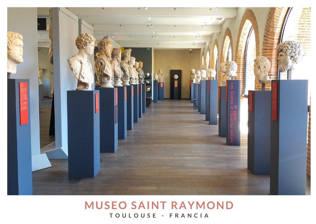 Esculturas romanas en el Museo Saint Raymond en Toulouse, Francia