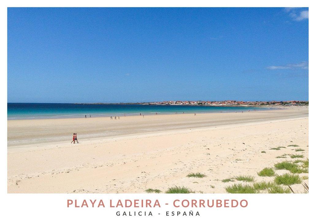Playa de la Ladeira en el Parque de las Dunas de Corrubedo, Galicia