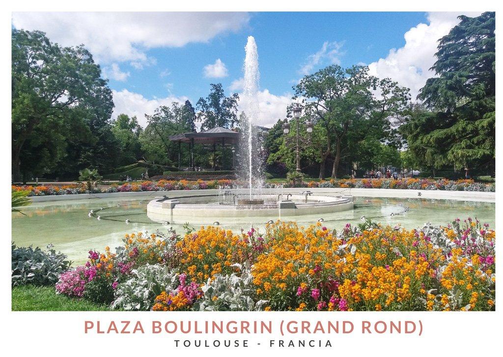 Plaza Boulingrin, un jardín circular en Toulouse