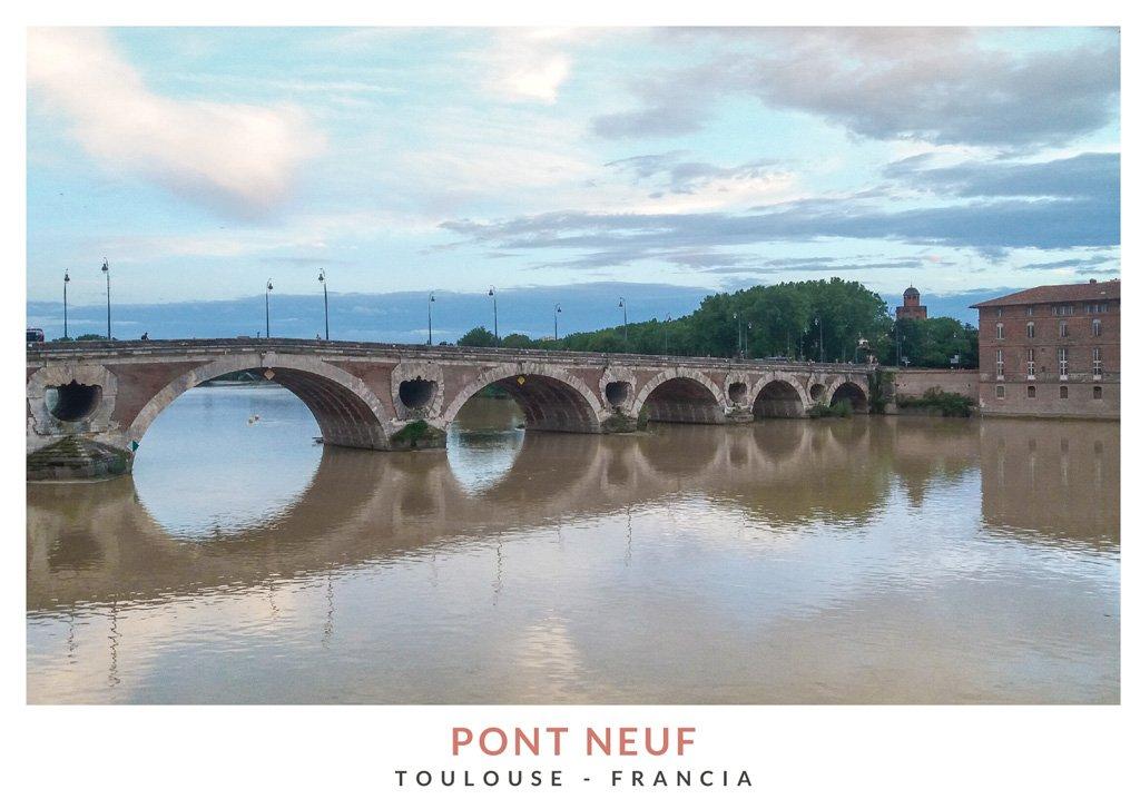 Pont Neuf, puente sobre el río Garona en el centro de la ciudad de Toulouse