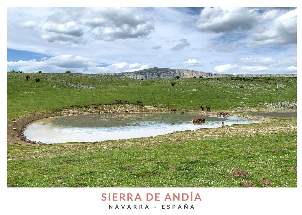 Paisaje de primavera en la Sierra de Andía, Navarra