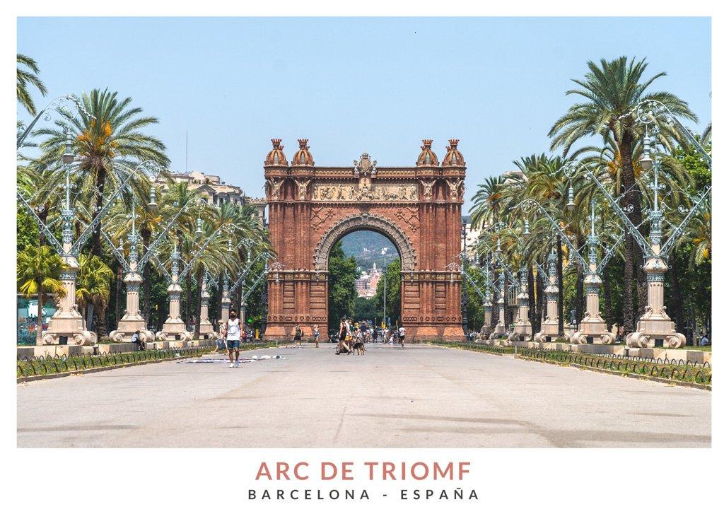 Arc de Triomf de Barcelona en verano del 2021