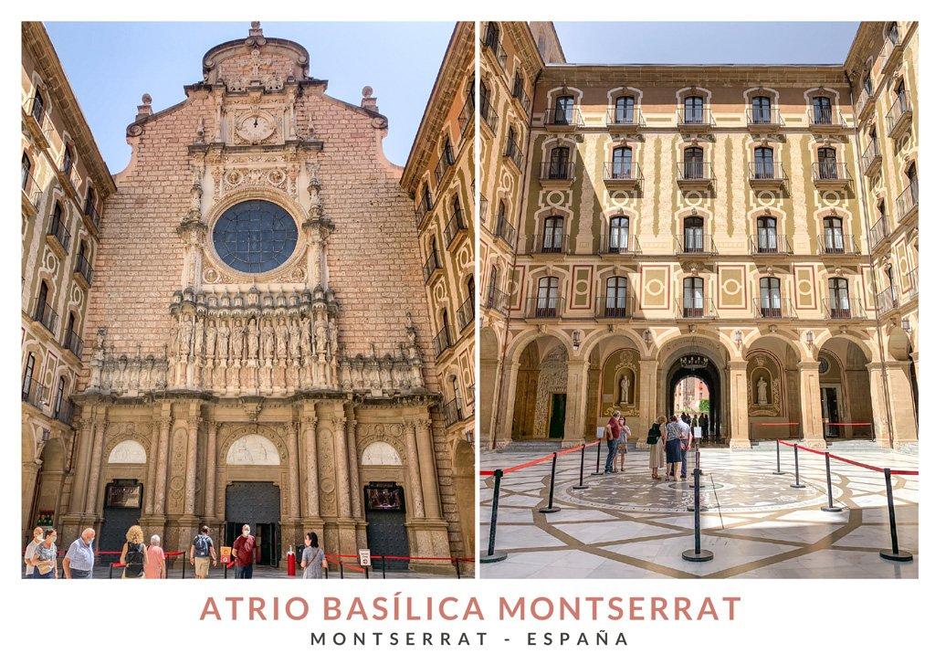 La arquitectura en el atrio de la Basílica de Montserrat
