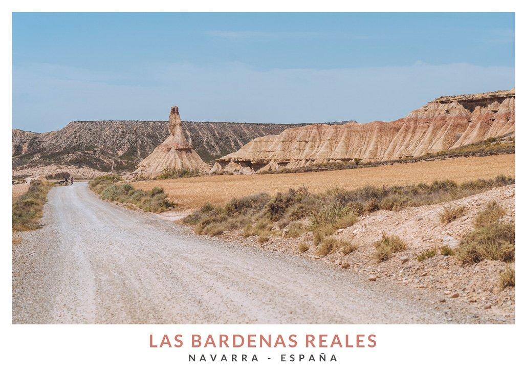 Bardenas Reales en Navarra, desierto de Navarra
