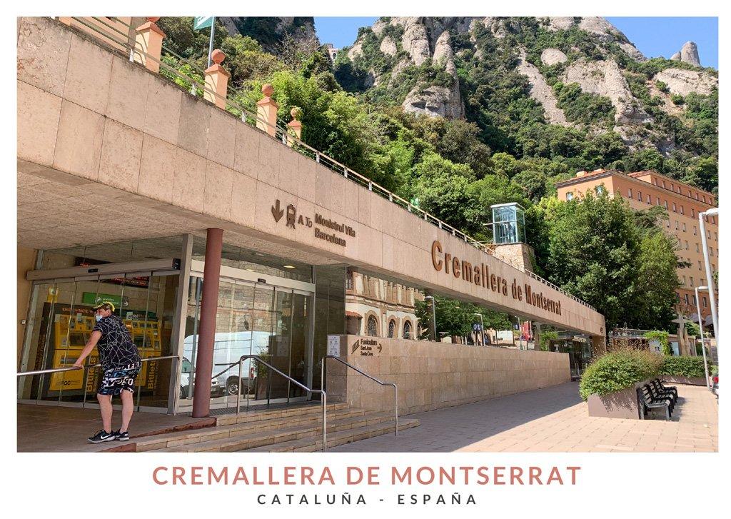 Estación del tren cremallera de Montserrat