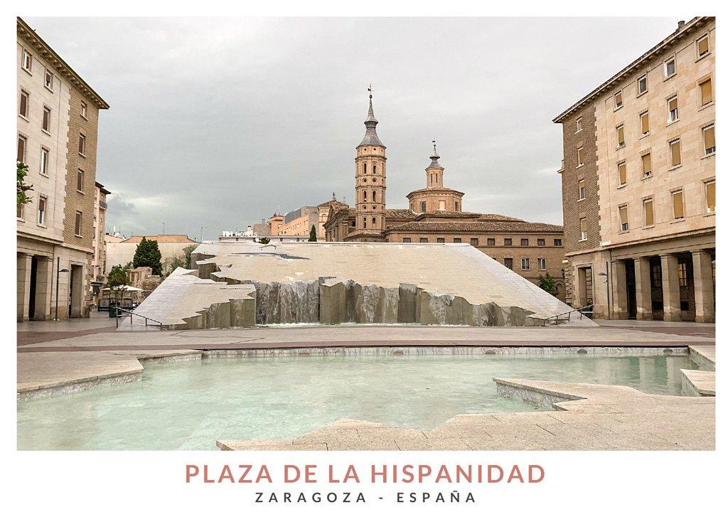 Fuente de la Plaza de la Hispanidad en Zaragoza