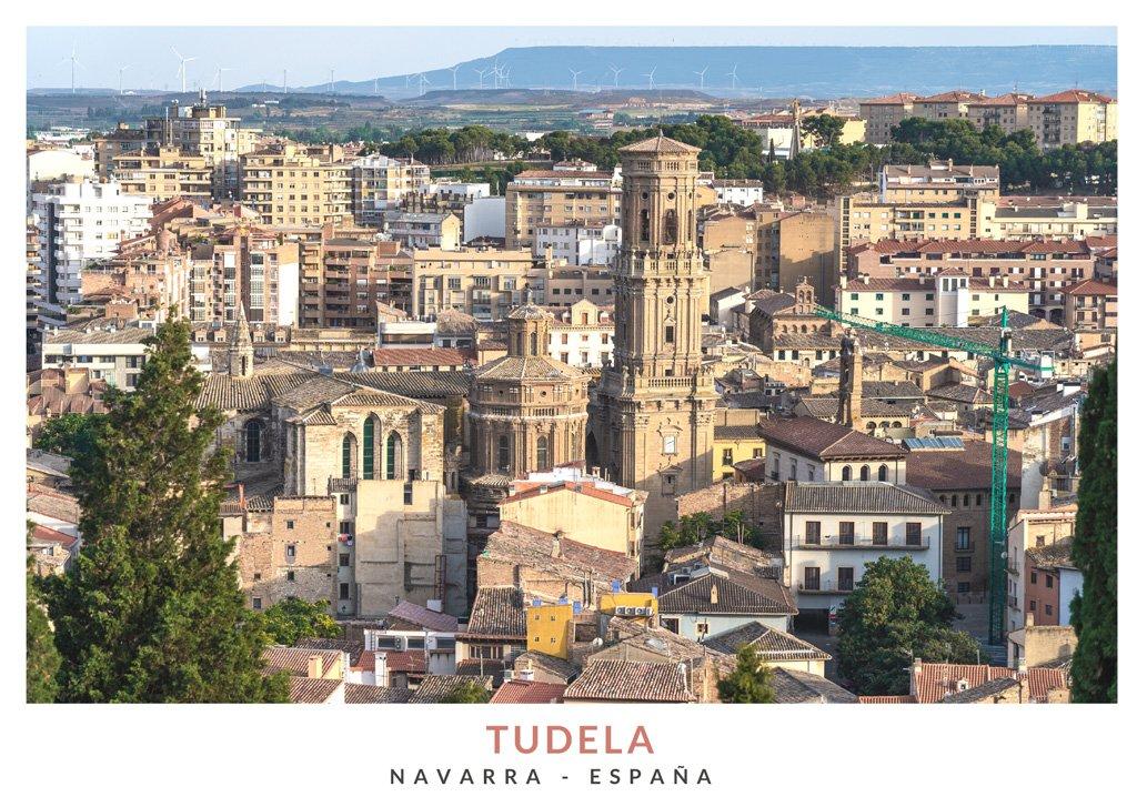 Vista panoramica de la ciudad de Tudela en Navarra