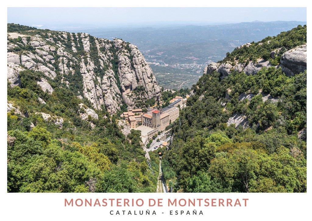 Vista panorámica del Monasterio de Montserrat desde el Mirador de San Joan
