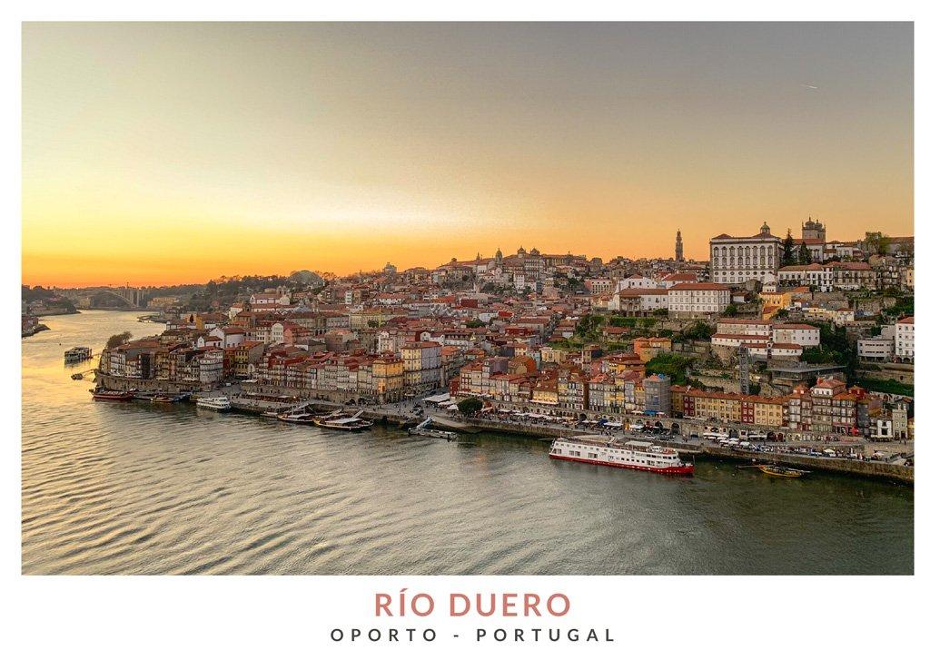 Atardecer con vistas al Rio Duero en Oporto