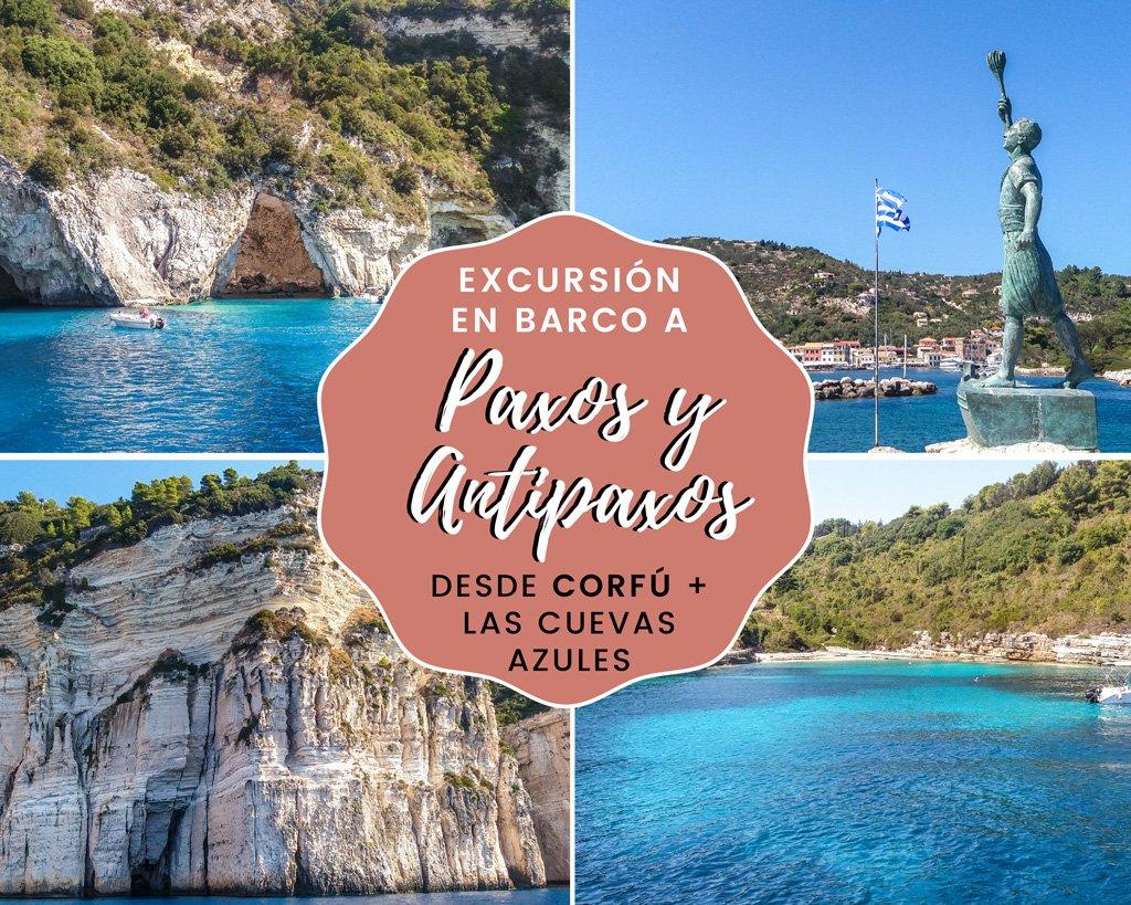 Lee más sobre el artículo Excursión en barco a Paxos y Antipaxos desde Corfú + las Cuevas Azules