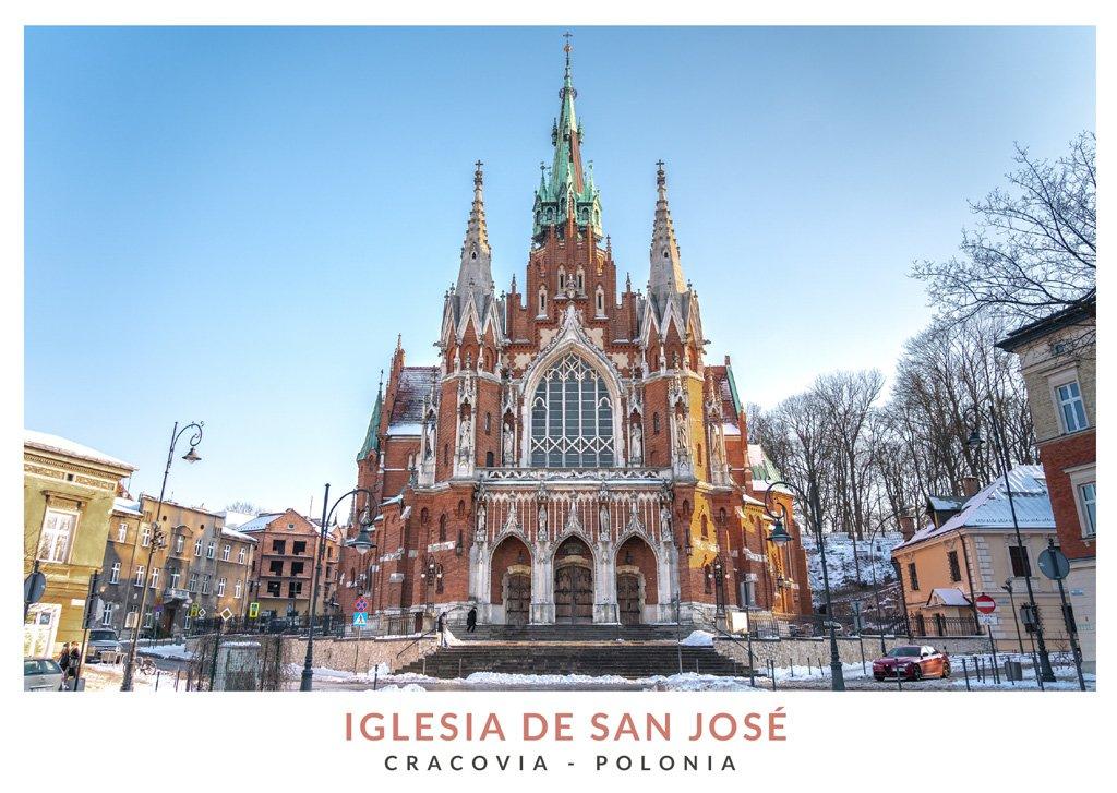 La iglesia de San José en invierno, Cracovia