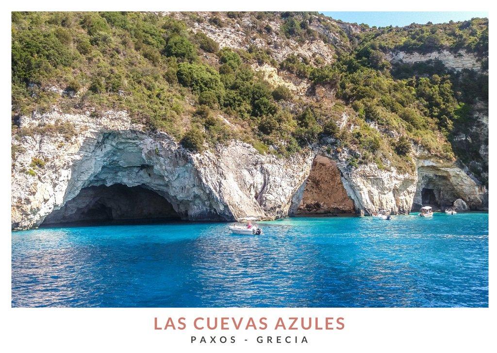 Las Cuevas Azules en la isla de Paxos, Grecia