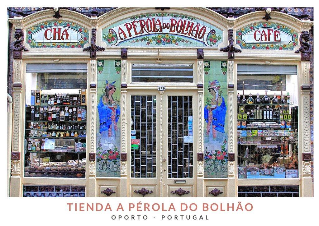 Tienda A Pérola do Bolhão desde el exterior