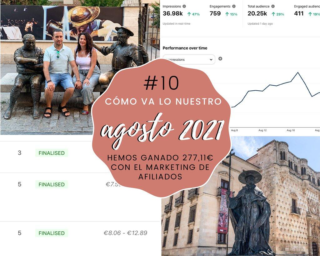 Lee más sobre el artículo Cómo va lo nuestro #10: Agosto 2021 – Hemos ganado 277,11€ con el marketing de afiliados