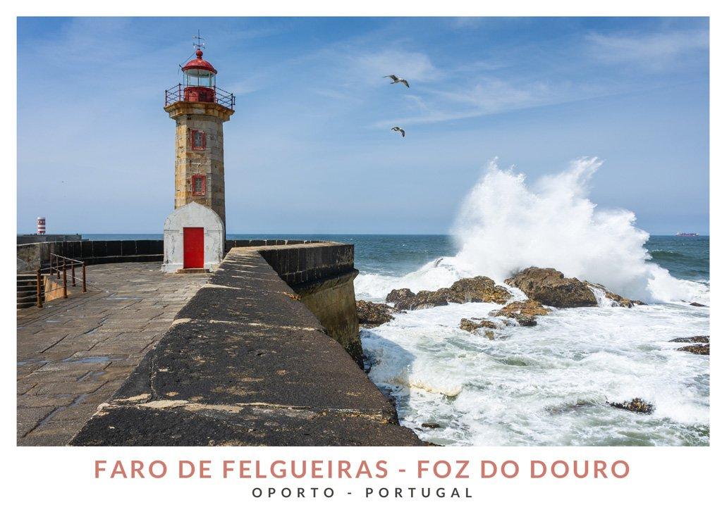 Faro de Felgueiras en Foz do Douro, Portugal